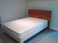 Used Mattress, Boxspring, Headboard, and Frame, Assembled, Purchased for Fifty Dollars